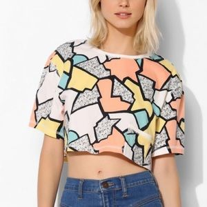 Cooperative Chest Boxy Tee Abstract Pocket Crop